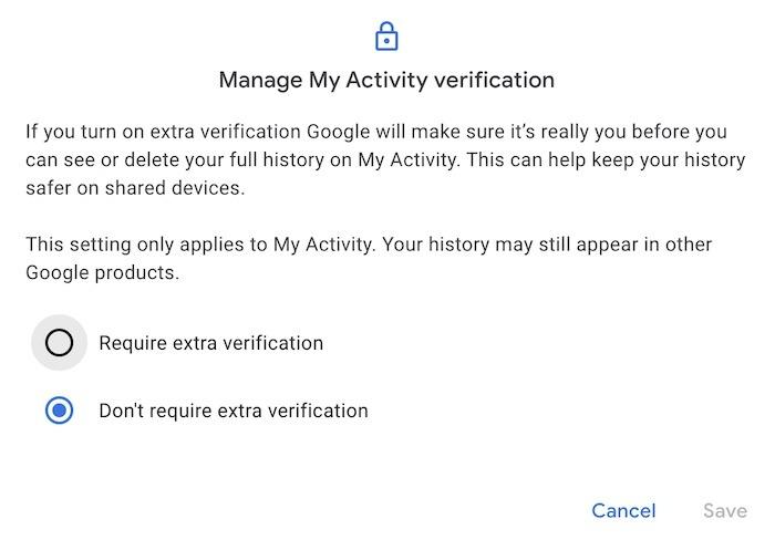 Supprimer la protection de l'historique de recherche Google