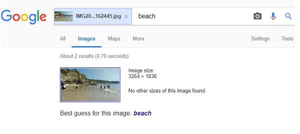Recherche d'images visuelles par Google Reverse Search Engine