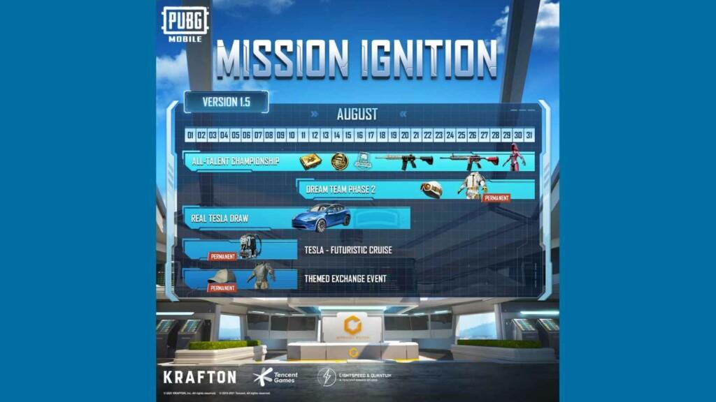 PUBG Mobile Mission Ignition devrait revenir le 5 août 2021 avec Mission Ignition: Reloaded Live Event