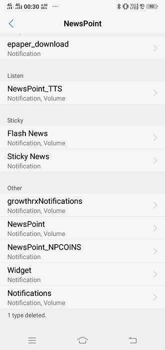 Gérer les notifications Android Désactiver l'application