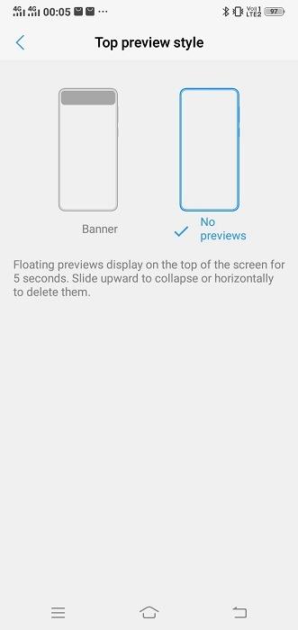 Gérer les notifications Aperçus flottants Android
