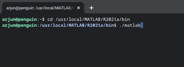 exécuter matlab depuis le terminal