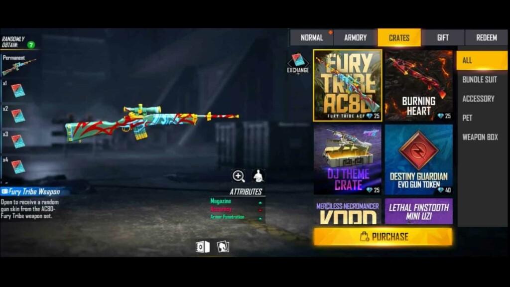 Fury Tribe AC80 dans Free Fire