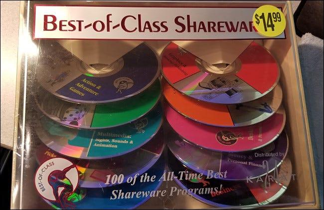 Collection de CD Shareware «la meilleure de sa catégorie»