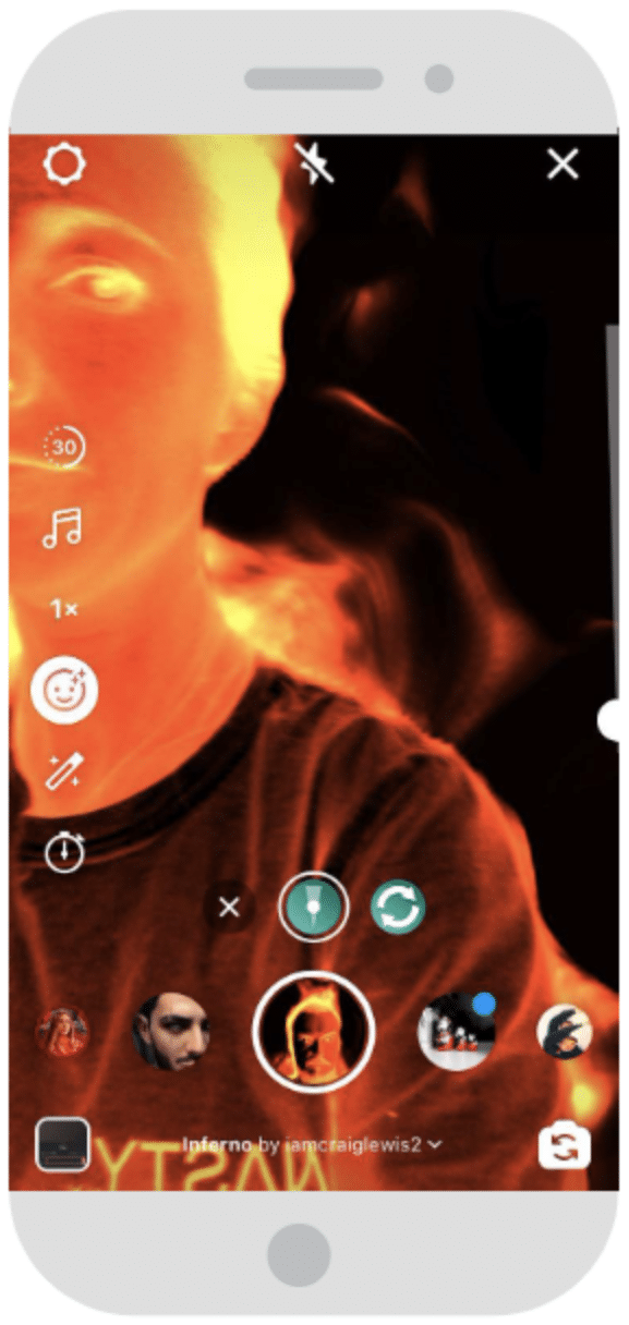 Filtre AR Instagram Reels