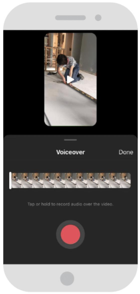 Alignement du clip audio de la voix off avec le clip vidéo dans Instagram Reels