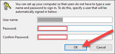 """Entrez votre mot de passe et cliquez sur """"OK""""."""