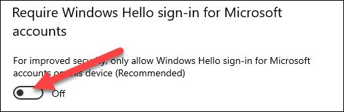 Désactivez Windows Hello.