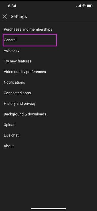 Ouvrir youtube général