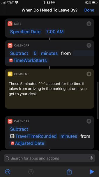 Ajuster le raccourci de l'heure d'arrivée