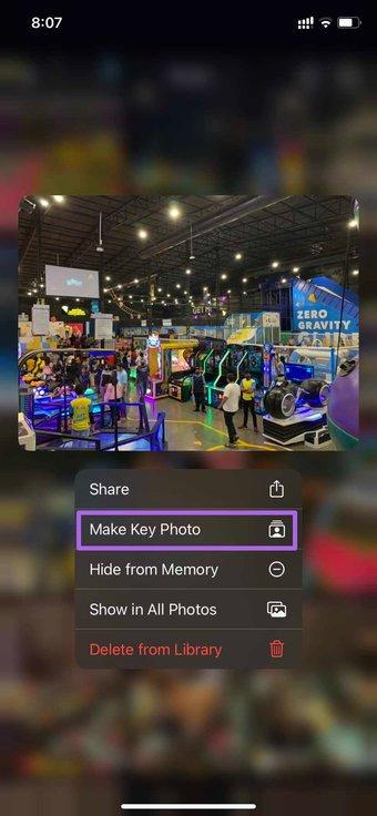 Faire une photo clé dans les souvenirs
