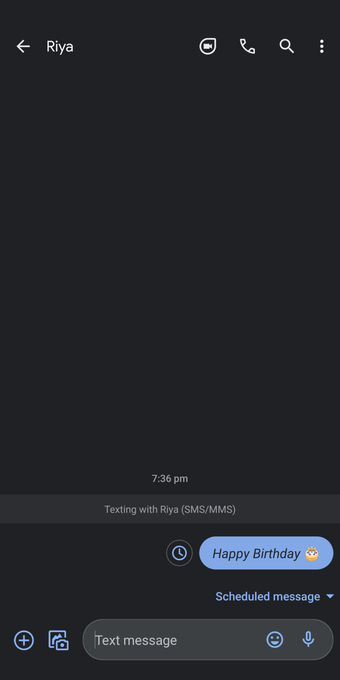 Message Schdeuled sur Android