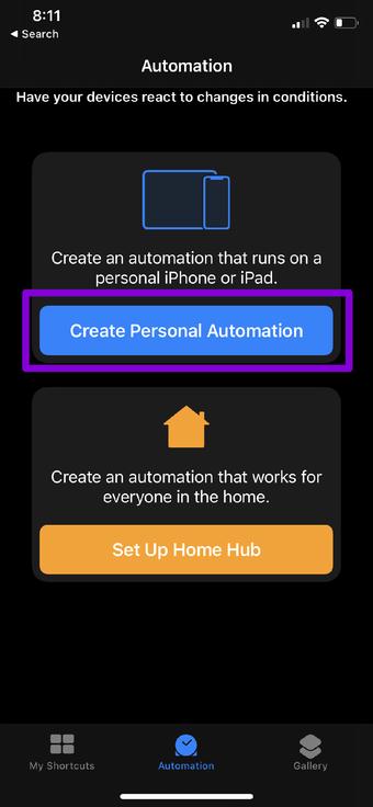 Créer une automatisation personnelle