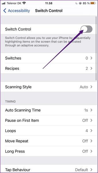 Interrupteur bouton de commande iphone