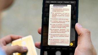 Utiliser du texte en direct sur i Phone et i Pad