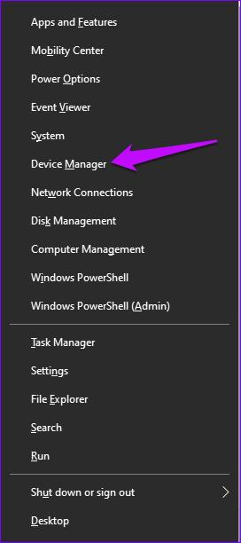 Gestionnaire de périphériques Windows 10