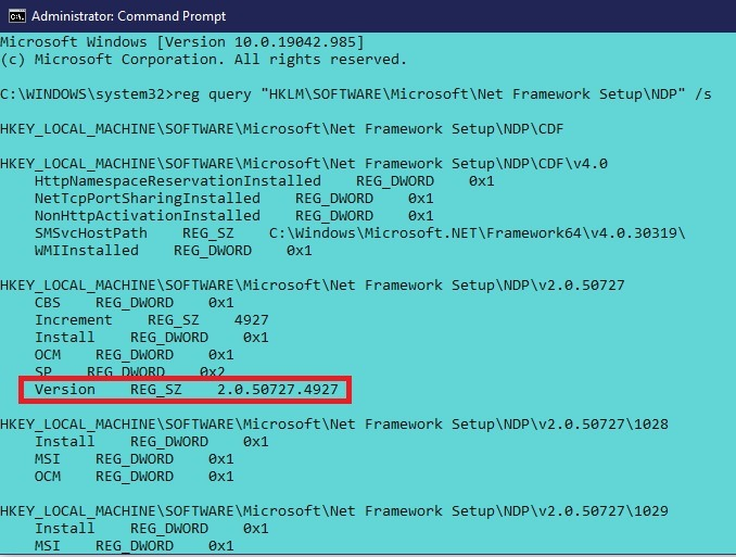 Comment installer Net Framework 20 30 35 dans la commande Windows 10