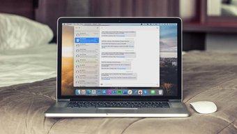 Application de messagerie sur mac