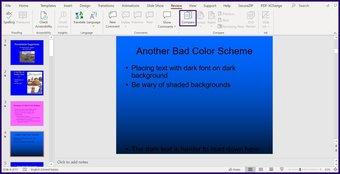 Suivre les modifications sur l'étape 3 de Microsoft PowerPoint