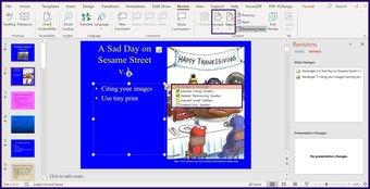 Suivre les modifications sur l'étape 9 de Microsoft PowerPoint