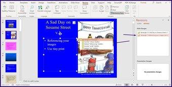 Suivre les modifications sur l'étape 8 de Microsoft PowerPoint