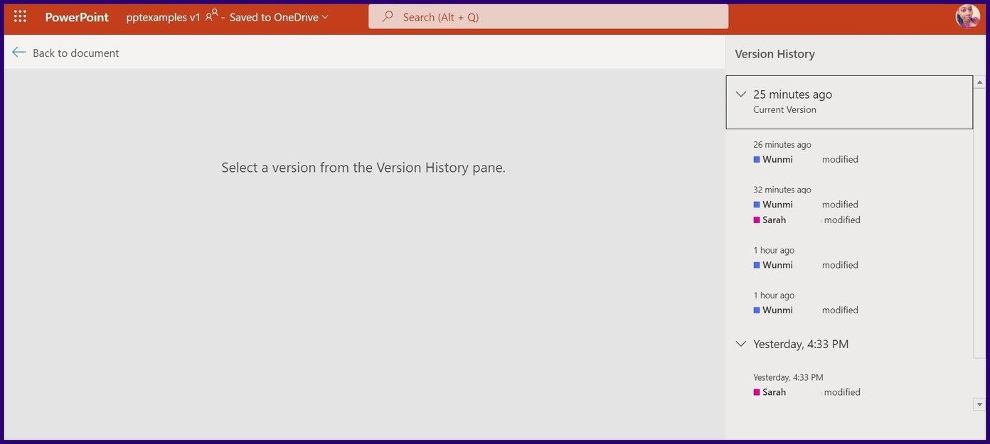Suivre les modifications sur l'étape 17 de Microsoft PowerPoint