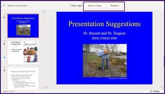 Suivre les modifications sur l'étape 18 de Microsoft PowerPoint