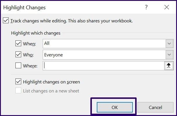 Suivre les modifications sur Microsoft Excel étape 21