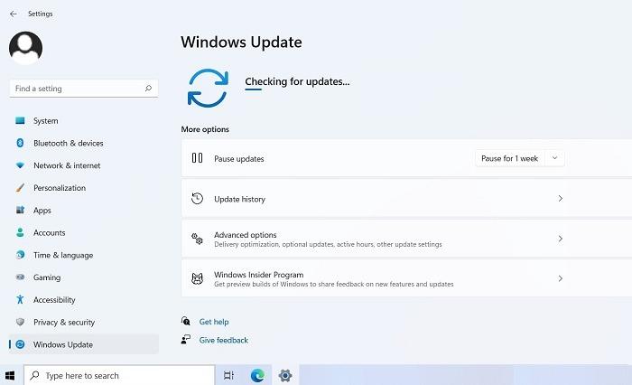 Recherche bloquée sur Windows11 lors de la recherche de mises à jour