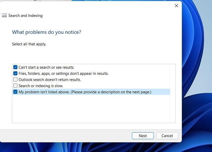 Des problèmes de recherche bloqués Windows11 apparaissent