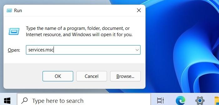 Services de recherche bloqués Windows11 Msc
