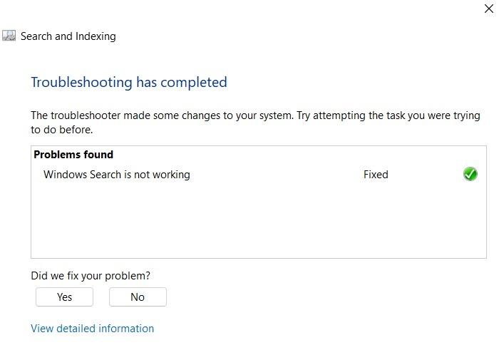Dépannage de la recherche bloquée Windows11 terminé Problème résolu