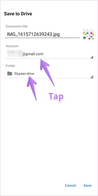 Télécharger des photos sur Google Drive à partir d'Android 8