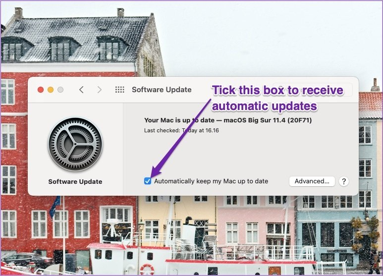 Mac reçoit des mises à jour automatiques