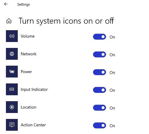 Comprendre votre emplacement est actuellement utilisé dans les icônes de la barre des tâches de Windows 10
