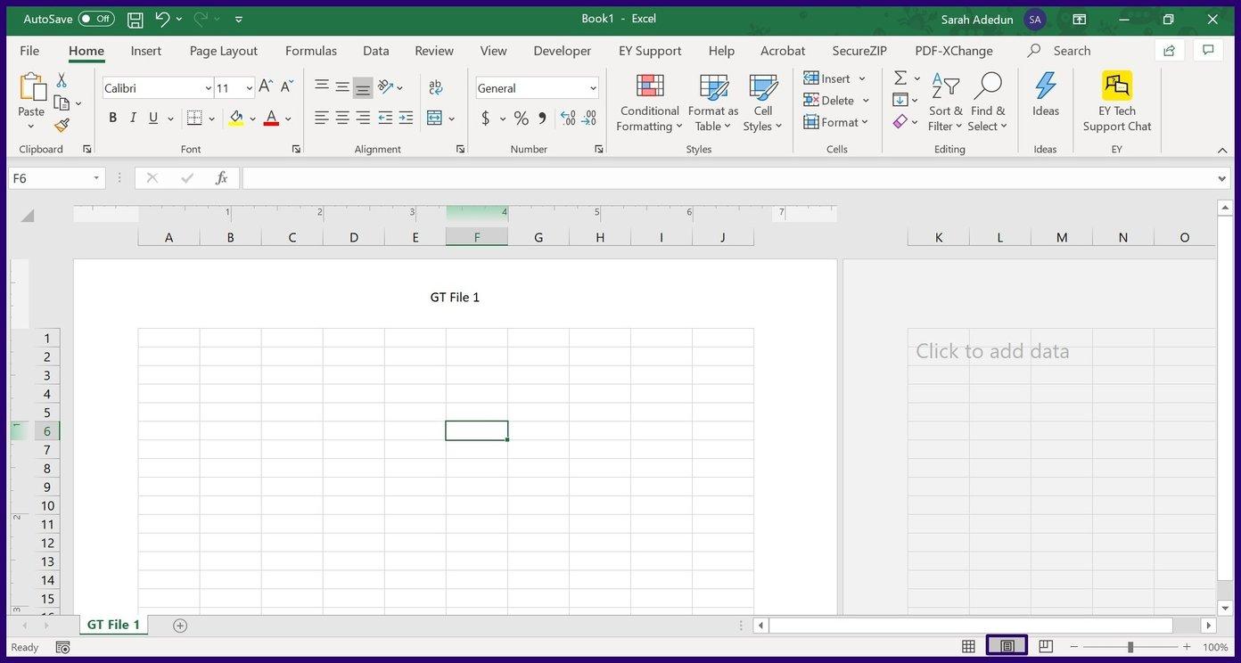 Insérer des en-têtes et des pieds de page dans Excel étape 10