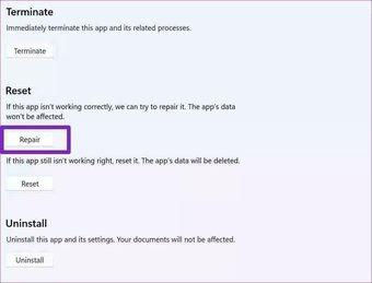 Réparer les équipes Microsoft