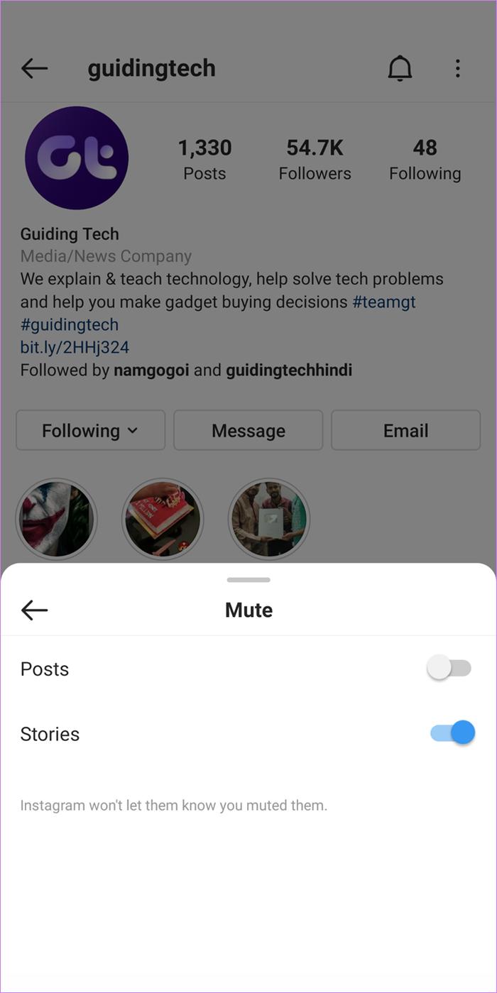 Rétablir le son sur instagram 3