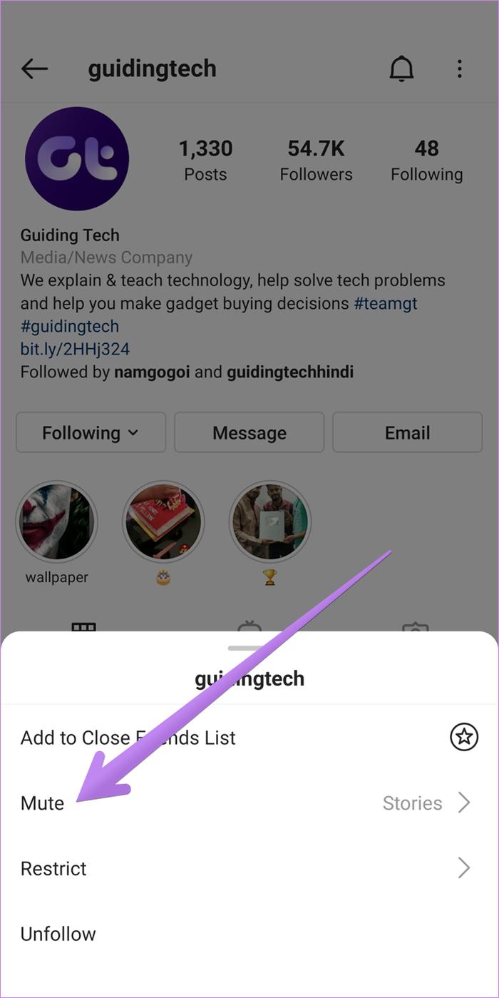 Rétablir le son sur instagram 2