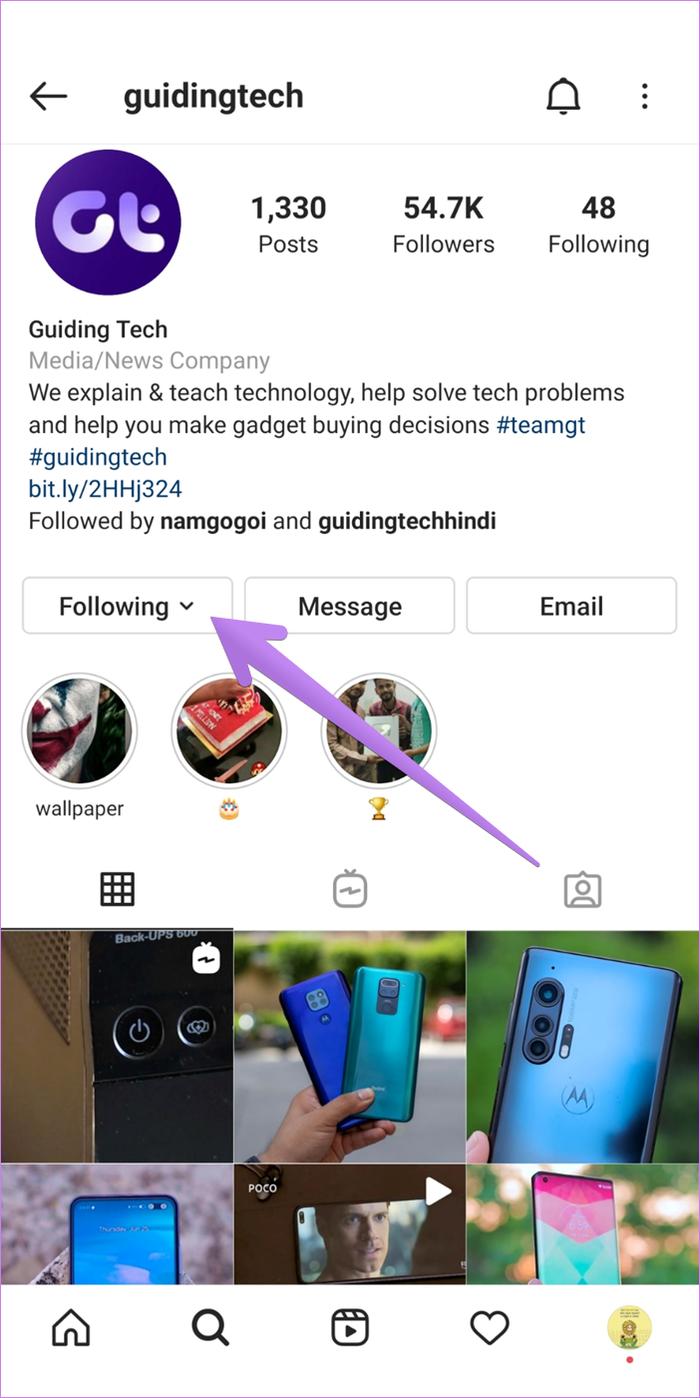 Rétablir le son sur instagram 1