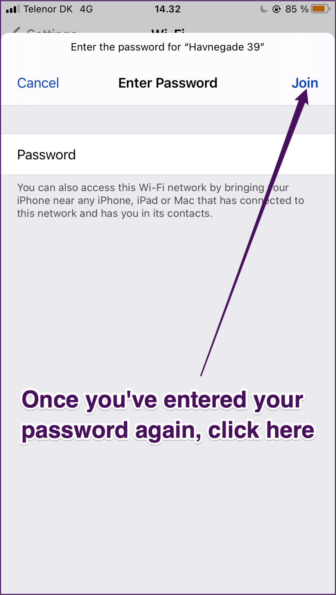 Iphone ressaisir le mot de passe