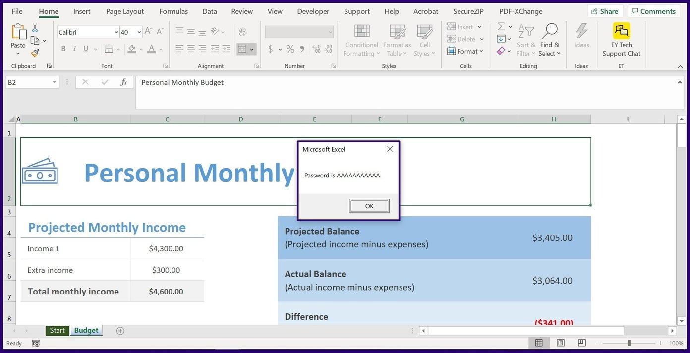 Déprotéger la feuille de calcul Excel et le classeur étape 21