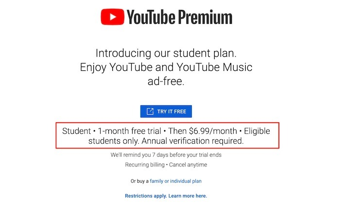Youtube Tv Premium Prix Étudiant