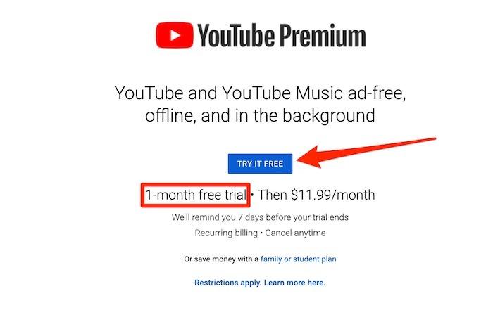 Essai Premium de Youtube Tv Premium