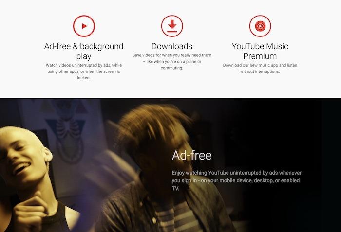 Fonctionnalités de YouTubeTv Premium