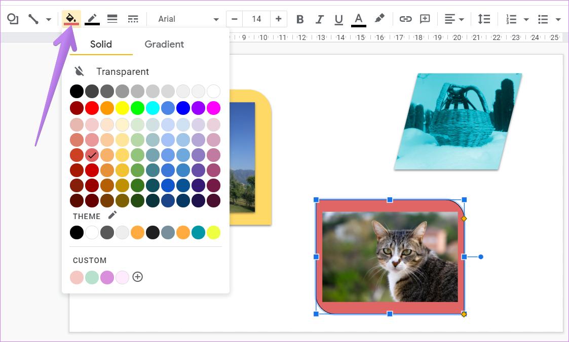 Ajouter une bordure autour de l'image dans Google Slides 7