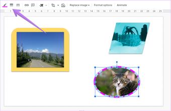 Ajouter une bordure autour de l'image dans Google Slides 14