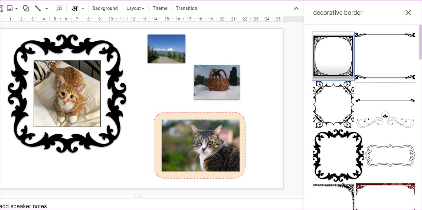 Ajouter une bordure autour de l'image dans Google Slides 16