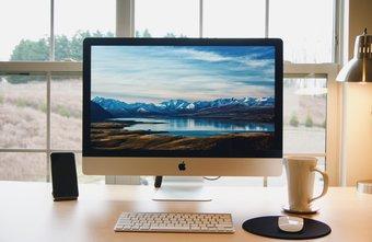 Mac sur le bureau