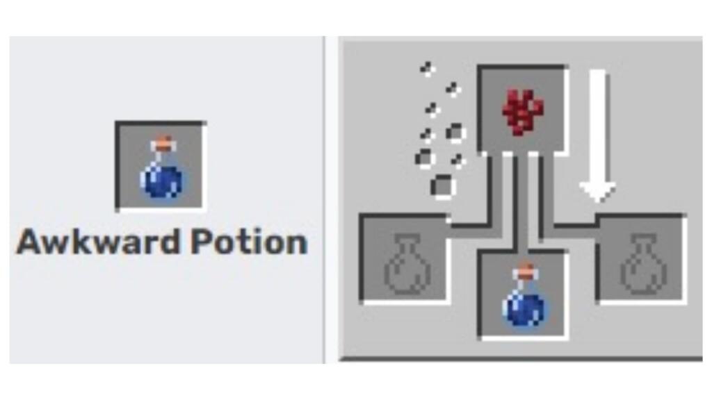 Potion maladroite dans Minecraft
